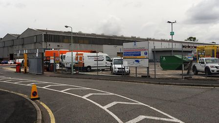 The council depot in Olding Road in Bury which has a problem with seagulls.