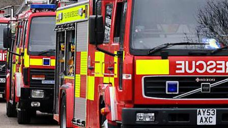 Firefighters were called to a blaze at an industrial estate