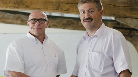 Joe Dunn of Ninja Tracking, left, with Rob Blackwell, research and development director at two10degr