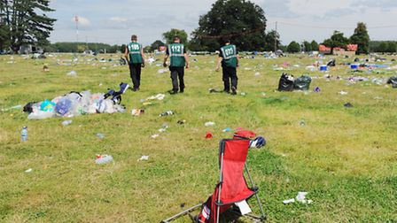 Weary festival goers and crew pack up the The Latitude Festival which is over for another year.