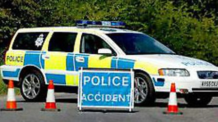 Police and an ambulance crew were called to a crash in Ipswich