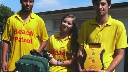 Three of TDC's Beach Patrol – Jack Bartlett, Bethany Higgins and Ryan Clay – who were involved in Sa