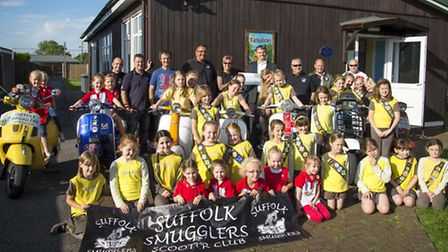 Smugglers donate to Leiston Gudies, Brownies and Rainbows. Picture by Pete Kyle.