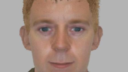 An e-fit of the man police want to talk to in connection with a burglary at Dovercourt.