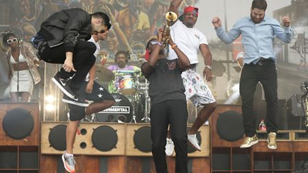 Rudimental have been announced to be the soecial guests at Latitude tonight. Pic: Yui Mok/PA Wire