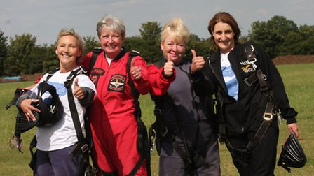 Left to right Lindsay Cutting, Jen Driver, Louise Holtaway and Julie Pymer.