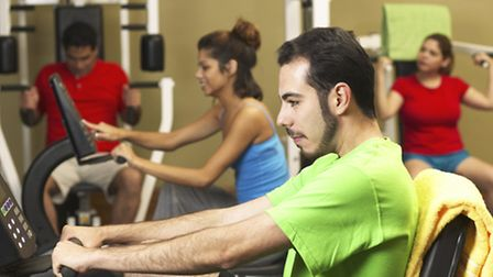 A generic photo of people working out in a gym.