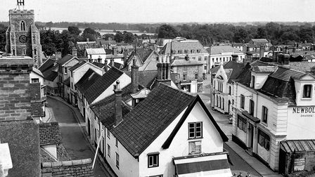 A view over Diss town centre in August 1958. Picture: Archant library