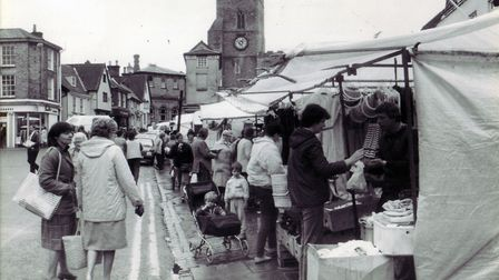 A busy day at the market in 1986. Picture: Archant Library
