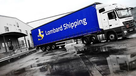 Lombard Shipping's new-look corporate identity on one of its lorries.
