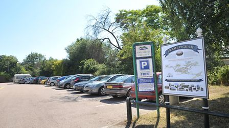 A picture of Fore Street car park in Framlingham taken before charges were introduced