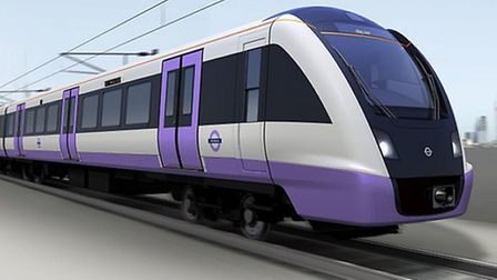 An image from MTR Corporation of what a Crossrail train may look like.