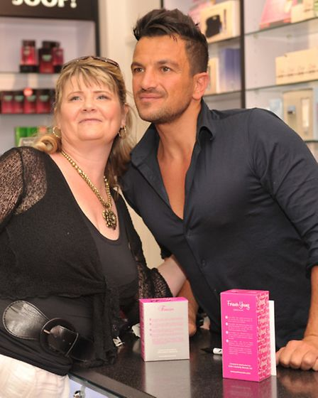Crowds of fans turned up to meet Peter Andre at The Perfume Shop in Bury St Edmunds. Photo: Sarah Lu
