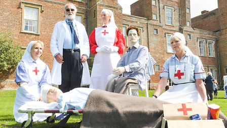 Long Melford Hall hosts an event celebrating the work of the Red Cross during the Second World War.