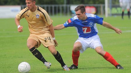George Moncur, in action for Colchester United at Leiston in pre-season