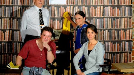 The QuirkHouse Theatre Company staging their first ever production Talking in the Library at Oakes B