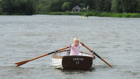 Youngsters take part in the 101st Thorpeness Regatta on the Meare