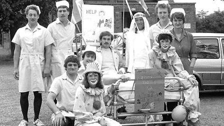 From The Archives East Sponsored Bed push sets off from Aldeburgh July 1983