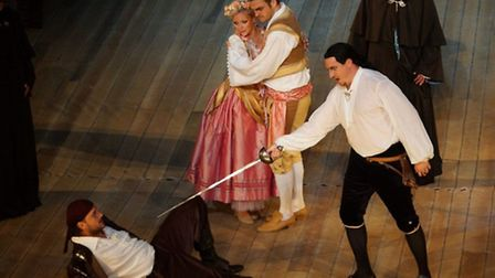Former Framlingham College student Christina Johnston performs as Zerlina in Don Giovanni at The Est