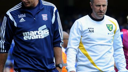 Ipswich Town entertain local rivals Norwich City at Portman Road.Different feelings for Mick McCart