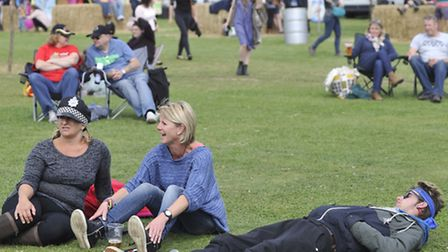 Festival goers attend the Homegrown Music Festival on Sunday, 24 August.