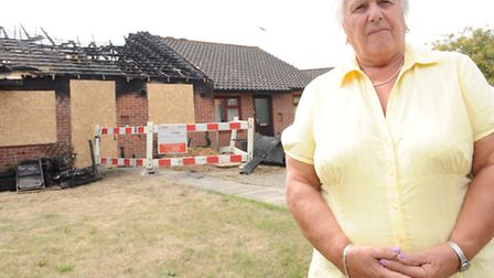 Shirley Allen rescued her neighbour from a burning bungalow fire in East Bergholt on Monday.