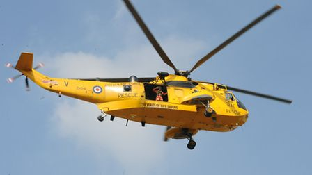The RAF search and rescue helicopter