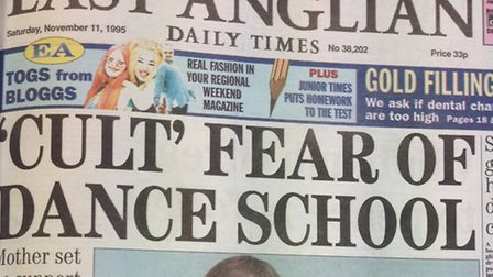 How the EADT reported the story about Mr Scott-Roger's dance school