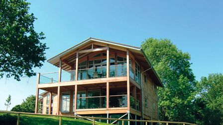 Part of the complex of luxury lodges at Stoke by Nayland Hotel, Golf & Spa.