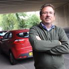 Suffolk County Councillor Mark Ereira is working to get barriers under the bridge on Fornham Road in