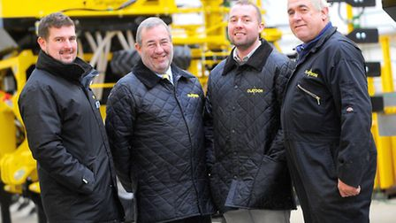 From left, Oliver, Jeff, Spencer and Frank Claydon of Claydon Drills.