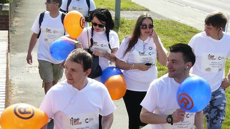 Staff from the Range in Colchester took part in a sponsored walk, from the Ipswich store, back to Co