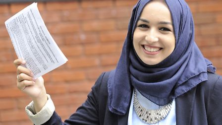 Jouja Maamri is one of the top scoring A-level students at Colchester Sixth Form College on Thursday