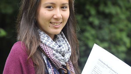 Libera Assini with eight A*s and three A grades, the highest total on record at the Colchester Royal