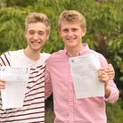 A Level results day at Thomas Mills High School in Framlingham. Robin Bendix -Hickman (A,A,A*,A) is
