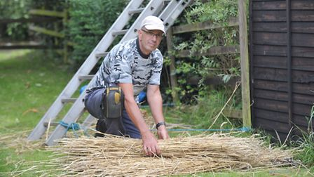 Trevor Death is currently thatching the house in Stoke by Nayland that was his very first job as an