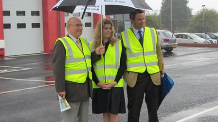 Cllr Colin Law, Penny Mordaunt, Minister for Communities and Local Government & Peter Aldous MP for