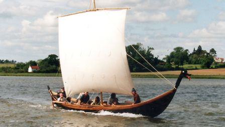 A 13-metre long replica of the Sutton Hoo burial ship will be a feature of this year's Maritime Wood