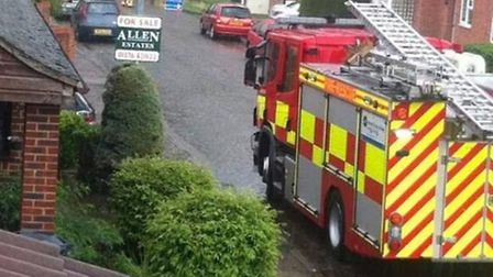 Chemical spill in Bramble Road, Witham