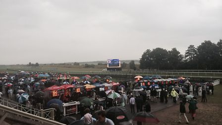 The rain threatened to put a dampner on the event