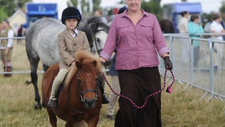 The Suffolk Punch Trust's family fun horse and dog show. Tail and Mane class