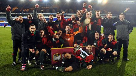 Bacton United win the Suffolk Junior Cup in 2010
