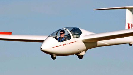 A solo glider flight that took place at Rattlesden Gliding Club