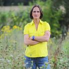Paula Harber in land she owns which is a nature reserve.