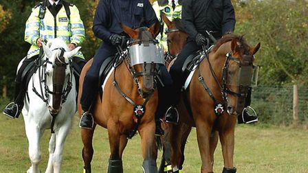 The Mounted Police Unit in Essex - which has now been abolished