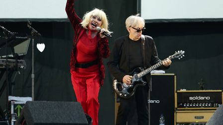 Debbie Harry and Chris Stein of Blondie performing on the MTV Stage during day one of the V Festival