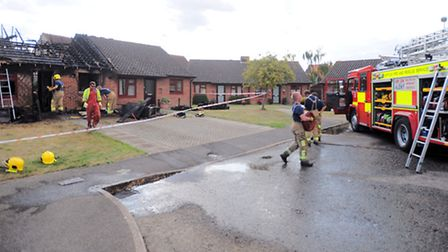 Foxhall Close bungalow fire, East Bergholt.