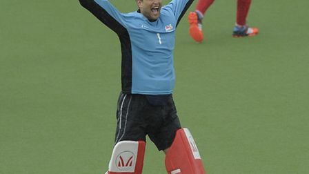 England's George Pinner after victory in the bronze medal match against New Zealand at the XX Commo