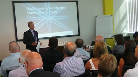 Tim Hooper, Stansted Airport's Head of Procurement, talks to delegates attending the Understanding A