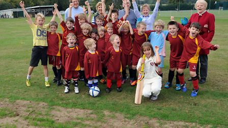 Celebrations as work progresses on the expansion of Bardwell Playing Field.
